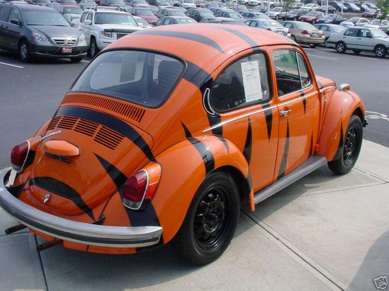 thesambacom readers rides view topic  super beetle  cincinnati bengals paint job