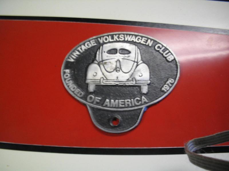 vintage vw club of america badge
