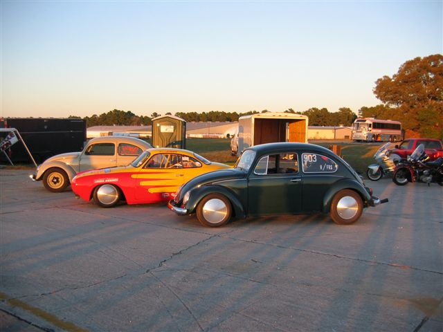 Brukrasa 36hp, Jones 1500 race Ghia, and Cook '51 Split stone stock split - Maxton NC