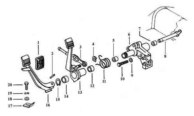 31 vw beetle pedal assembly diagram