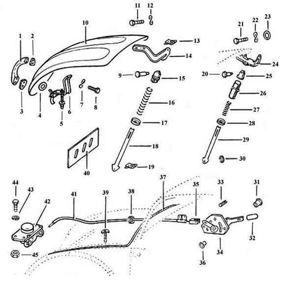 thesamba com beetle 1958 1967 view topic 61 hood latch hardware rh thesamba com 2001 Ford Explorer Hood Latch Jeep Cherokee Hood Latch Diagram