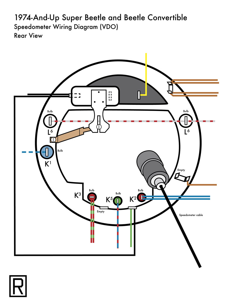 Wiring Diagram For 1974 Vw Super Beetle Smart Diagrams Thesamba Com Late Model 1968 Up View 74 And