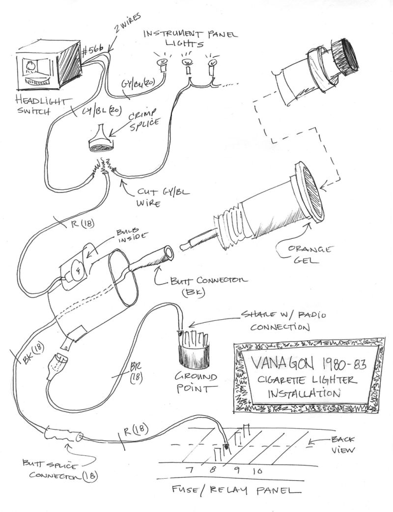 12 volt lighter socket wiring diagram