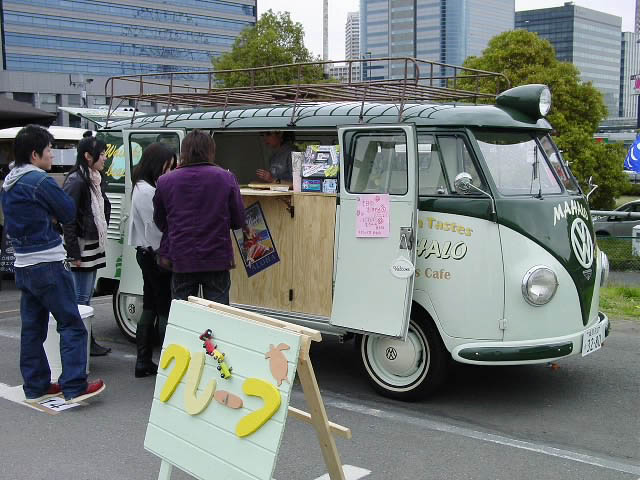 Euro kombi with semaphore . Mobile Crepe shop