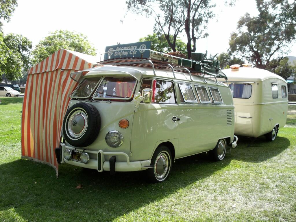 My 1965 camper bus with 1960 Westfalia caravan