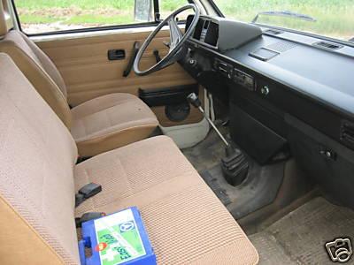 vanagon front seats 3 across.