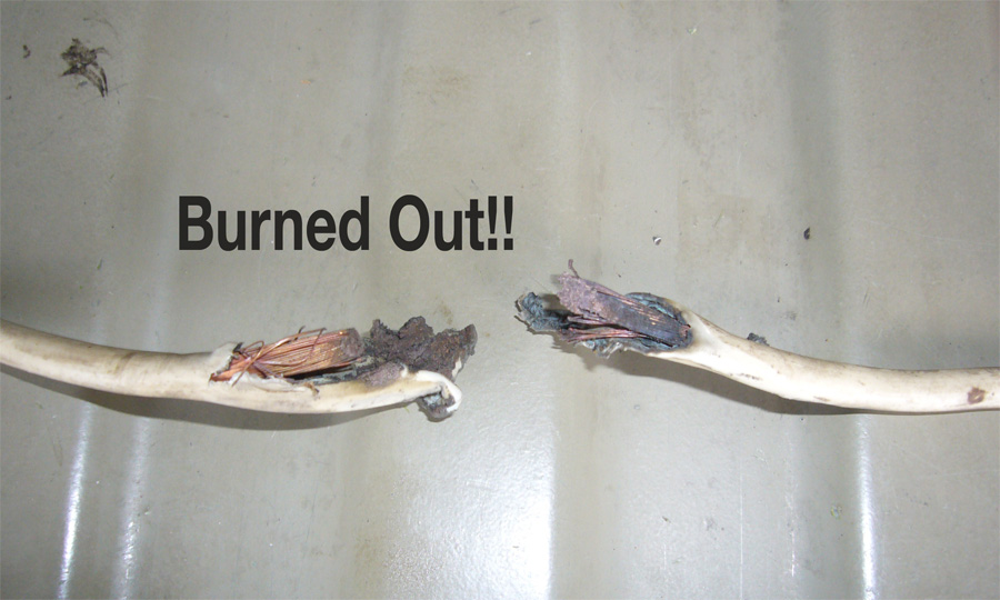 burned wire