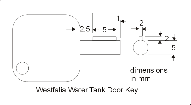 Water Tank Door Key