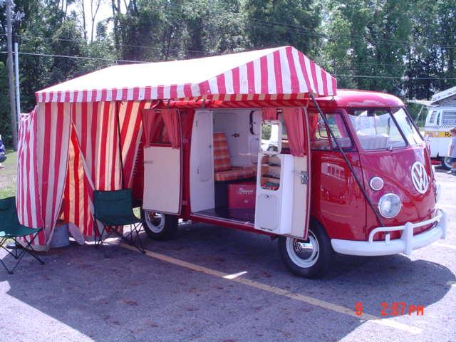 red and white westfalia tent & TheSamba.com :: Gallery - red and white westfalia tent