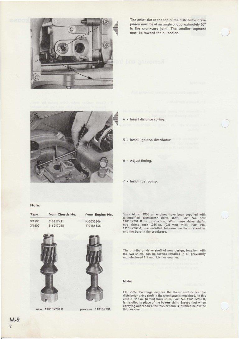 T-3 distributor drive gear