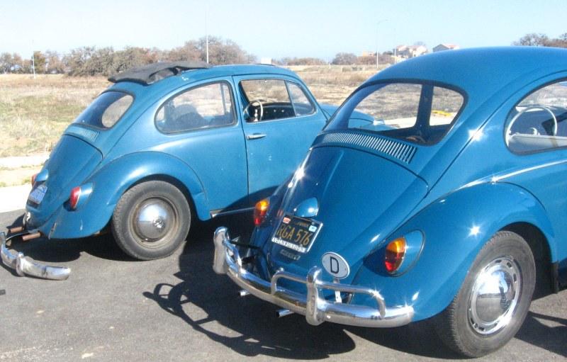 VW Beetle Hood Crest Emblem 63-64 Black