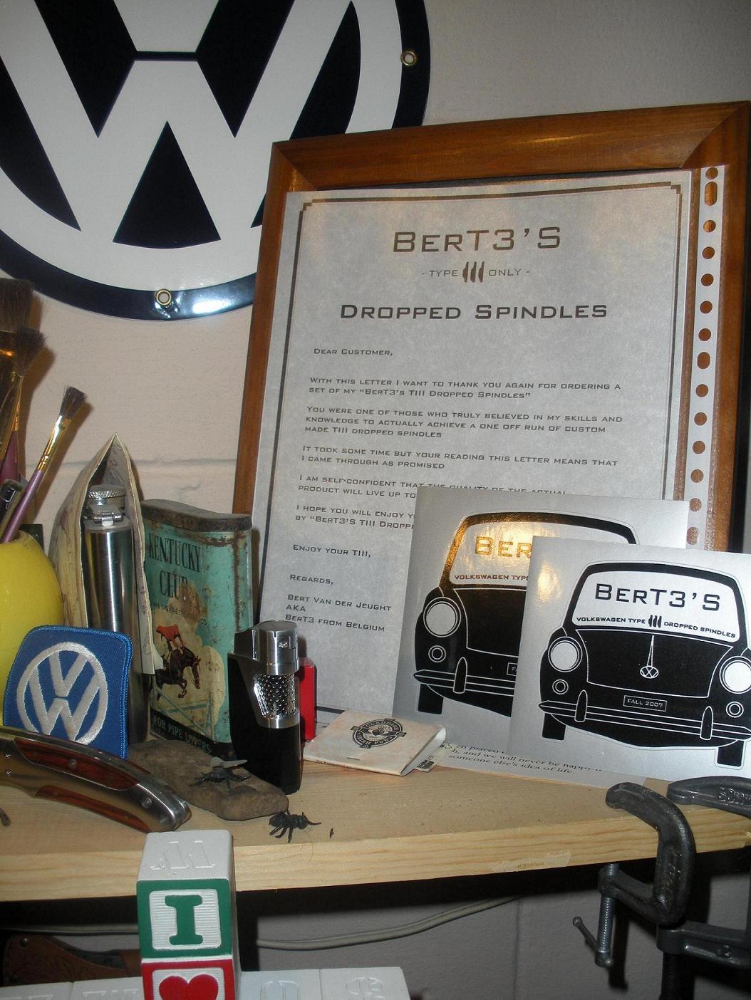My BerT3 Spindles