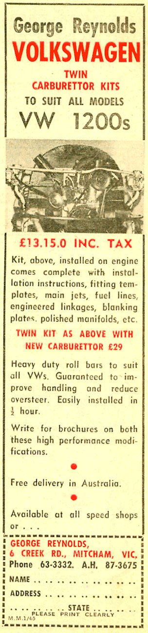 george reynolds twin carb kit.