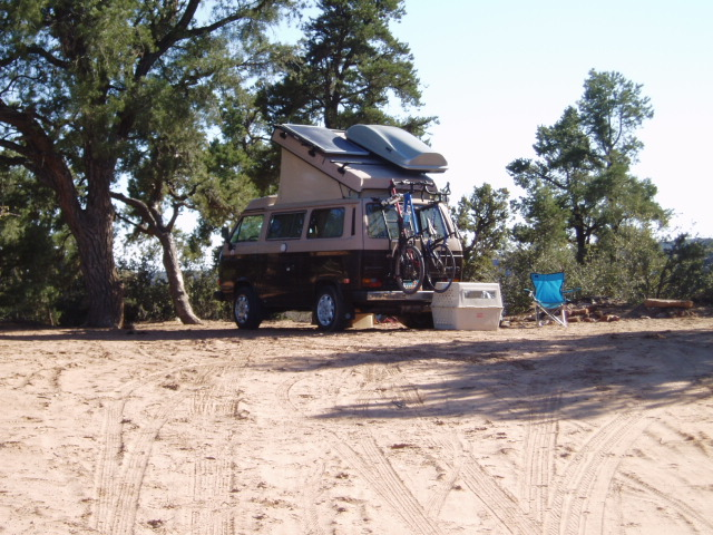 Camping on Gooseberry Mesa