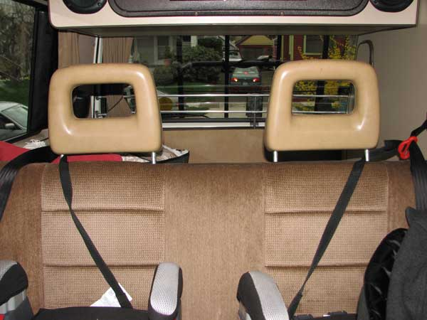 Rear headrests