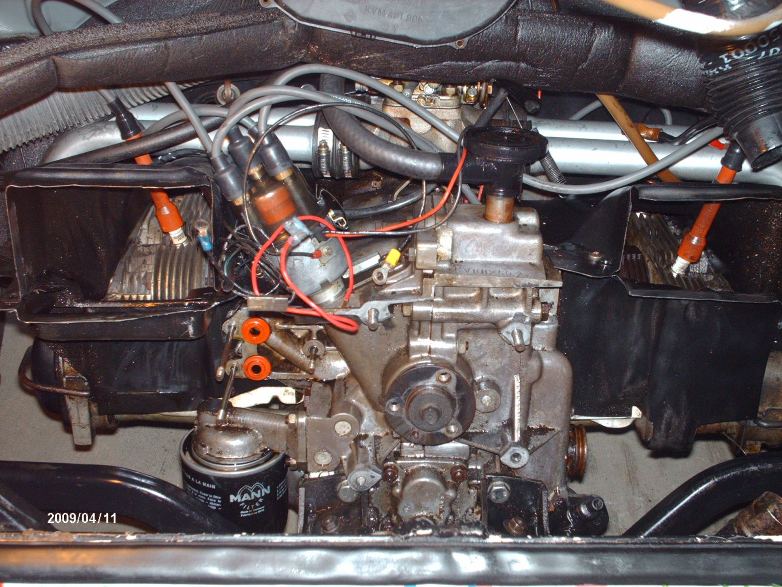Vw Oil Cooler With Fan : Thesamba bay window bus view topic replacing