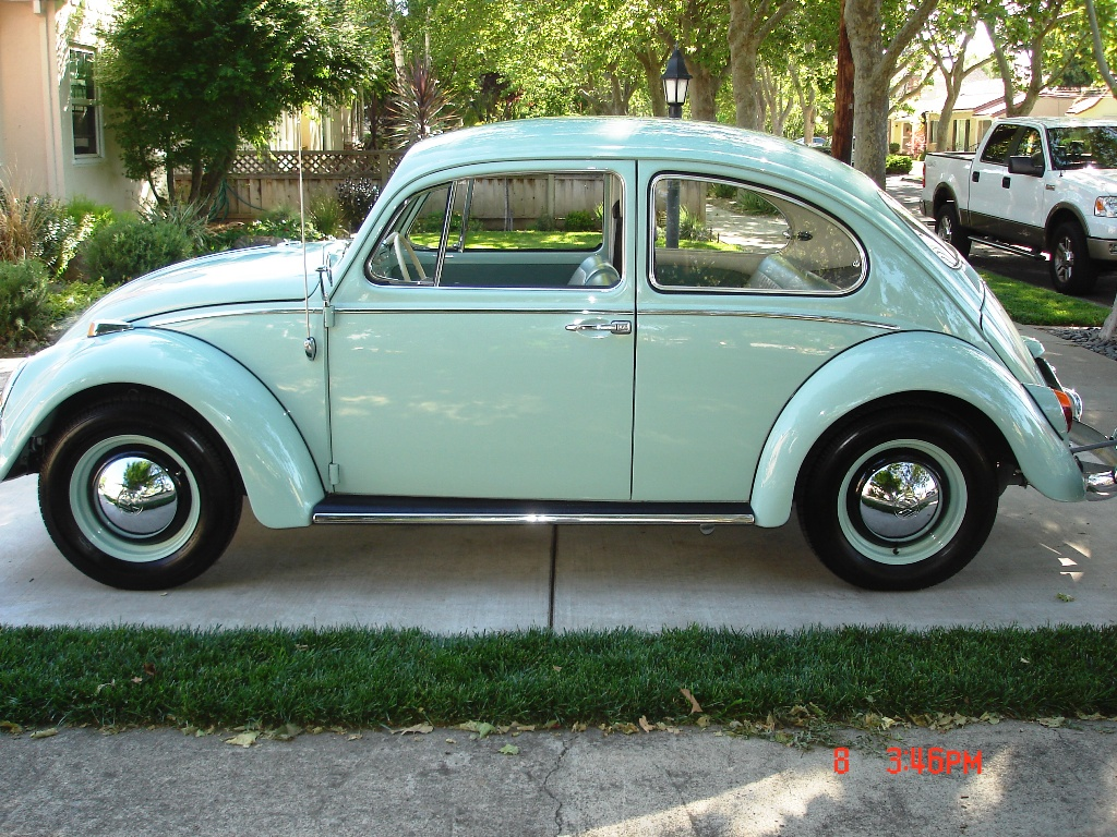 Exle Of Pearl White Paint On A 1964 Volkswagen Beetle