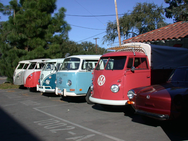 The line up at West Coast Classic Restoration