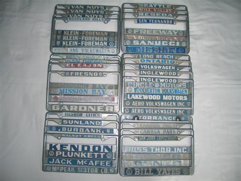 Dealer license plate frames I got today! & TheSamba.com :: Gallery - Dealer license plate frames I got today!