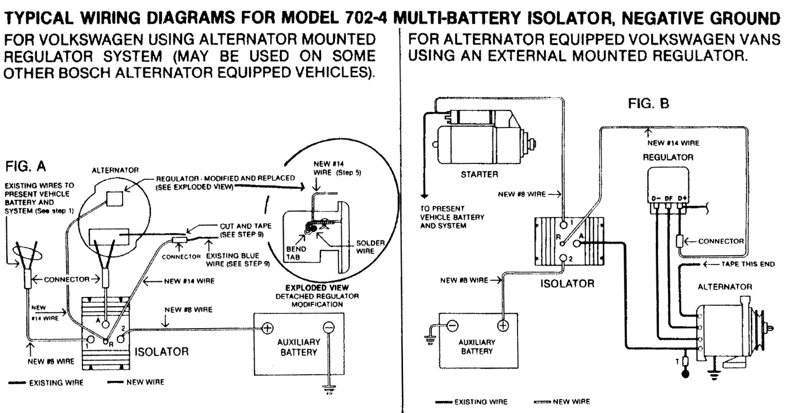 TheSambacom Bay Window Bus View Topic Battery Isolator - Sure power battery isolator wiring diagram