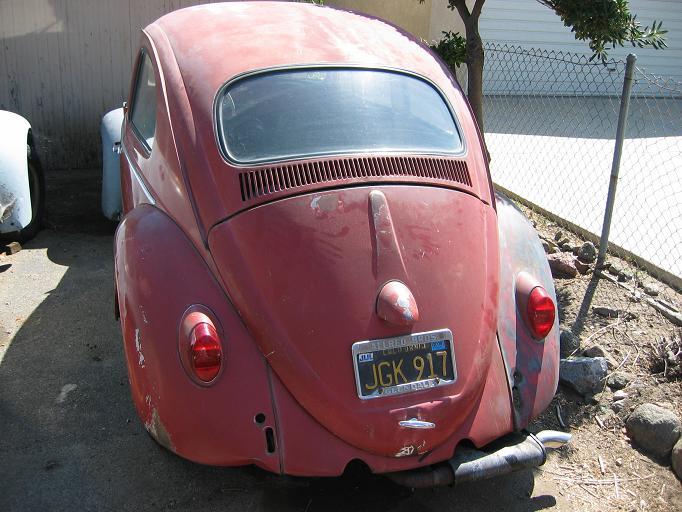 VW Beetle T handle engine lid lock 55-64