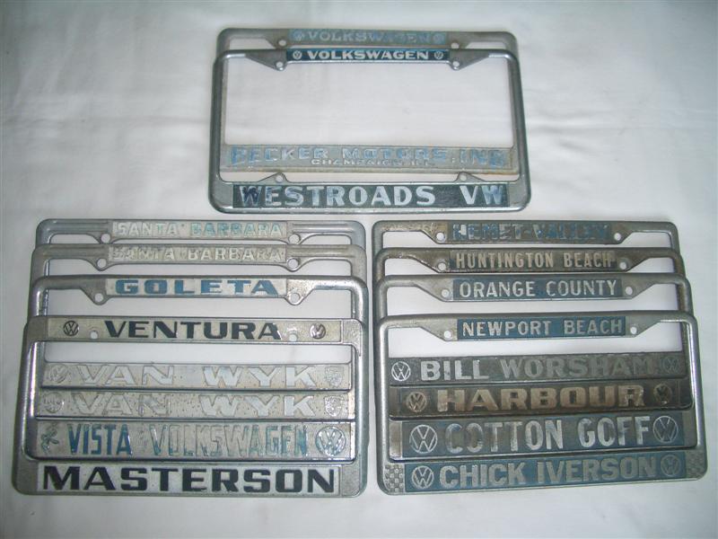 TheSamba.com :: Gallery - I got more dealer license plate frames.