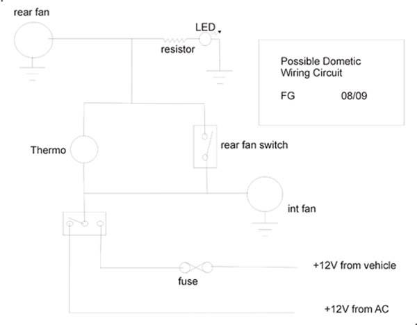 Possible Dometic Fan Wiring