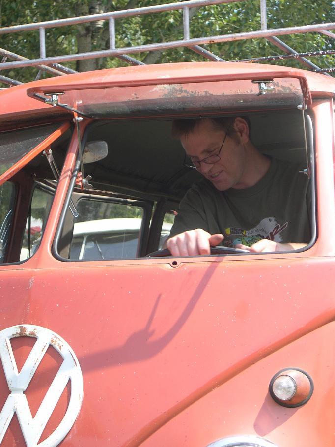 Campingbox at the wheel
