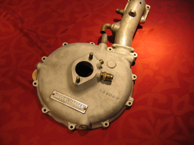 1936 Graham Supercharger compressor and manifold pipe with water cooling