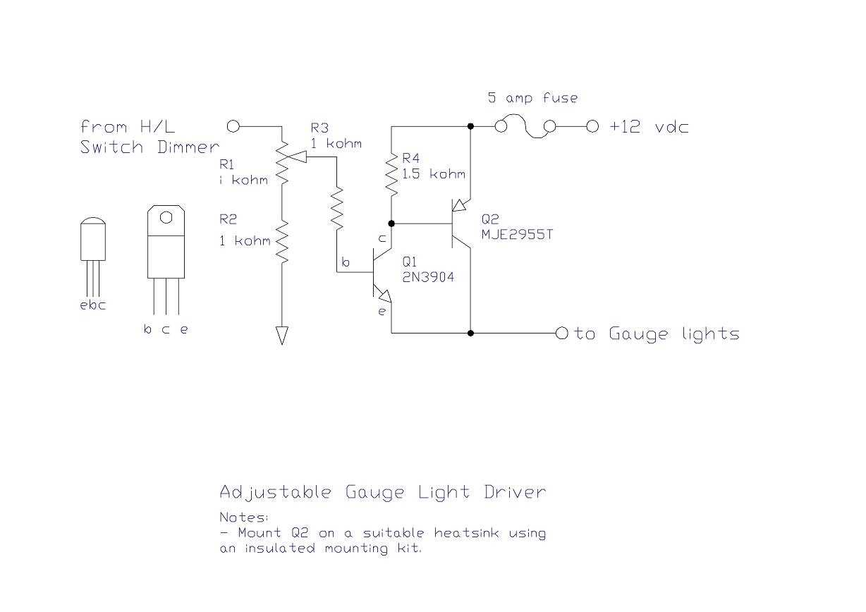 Wiring diagram for sunpro super tach the