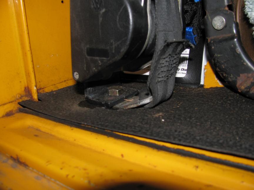 VW retractable seatbelt retro-fit