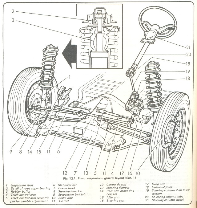 vw bug rear suspension diagram