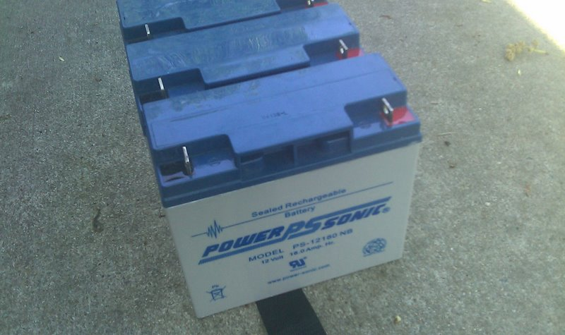 Auxiliary battery Installation. 4 pack of PS-12180.