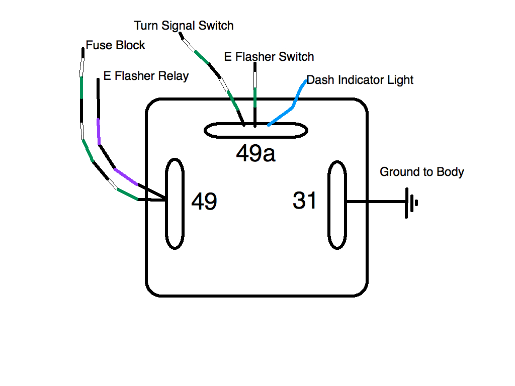 thesamba com split bus view topic flasher relays rh thesamba com flasher relay circuit diagram flasher relay circuit