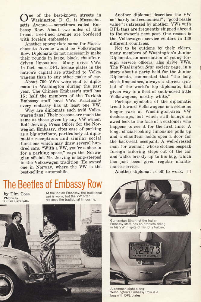 The Beetles of Embassy Row