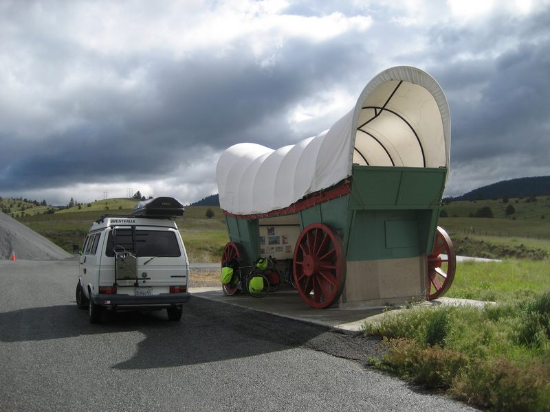 Covered wagon and van