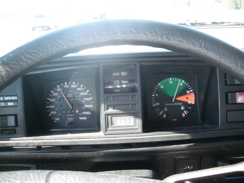 16v GTi speedo in Syncro