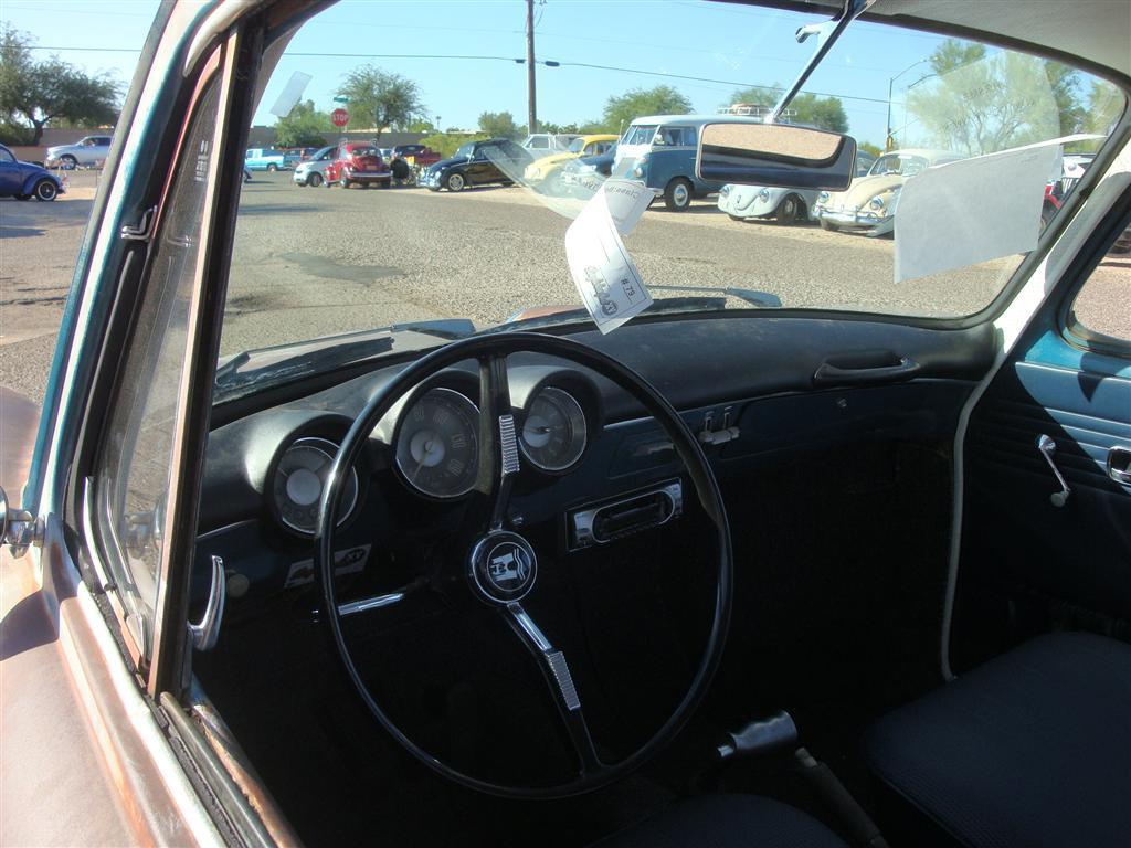 Sea Blue N-model Notchback with blue interior