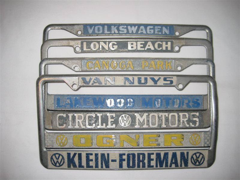 TheSamba.com :: Gallery - Dealer license plate frames