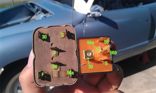 vw beetle headlight switch wiring diagram  thesamba com ghia view topic 1966 headlight relay on 1970 vw beetle headlight switch wiring diagram