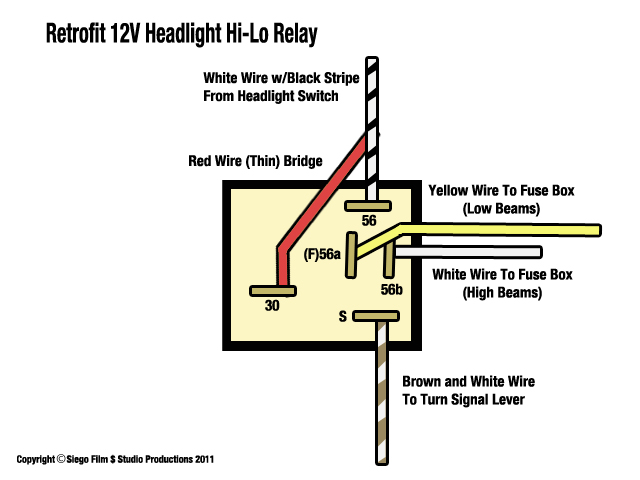 Vw Headlight Switch Wiring Diagram : Thesamba ghia view topic headlight relay
