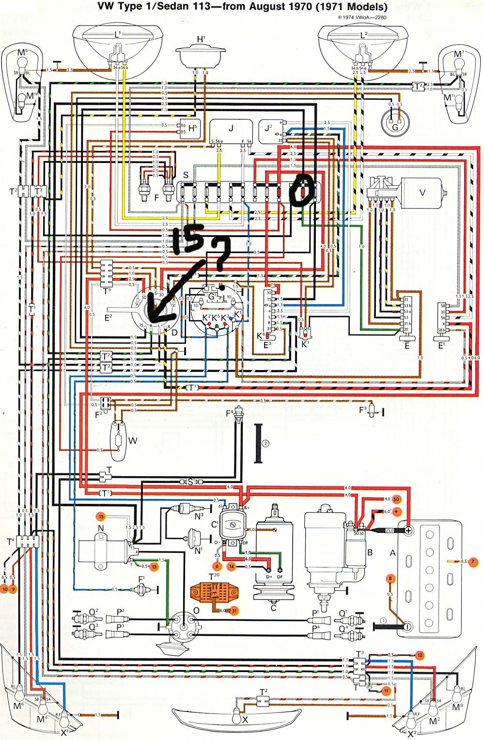 on 99 Vw Beetle Fuse Diagram