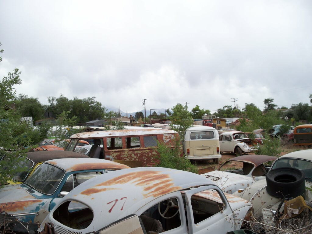 Vintage VW junkyard found during my 3 weeks journey.