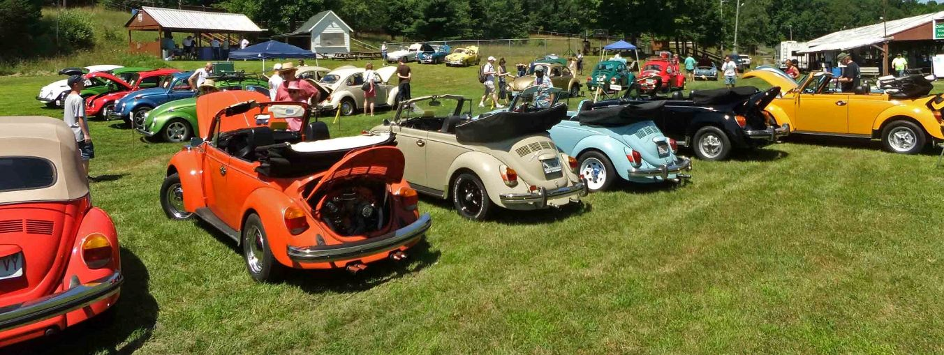 My 70 Bug on the way to and at the 2011 Lebanon Volks-Meet