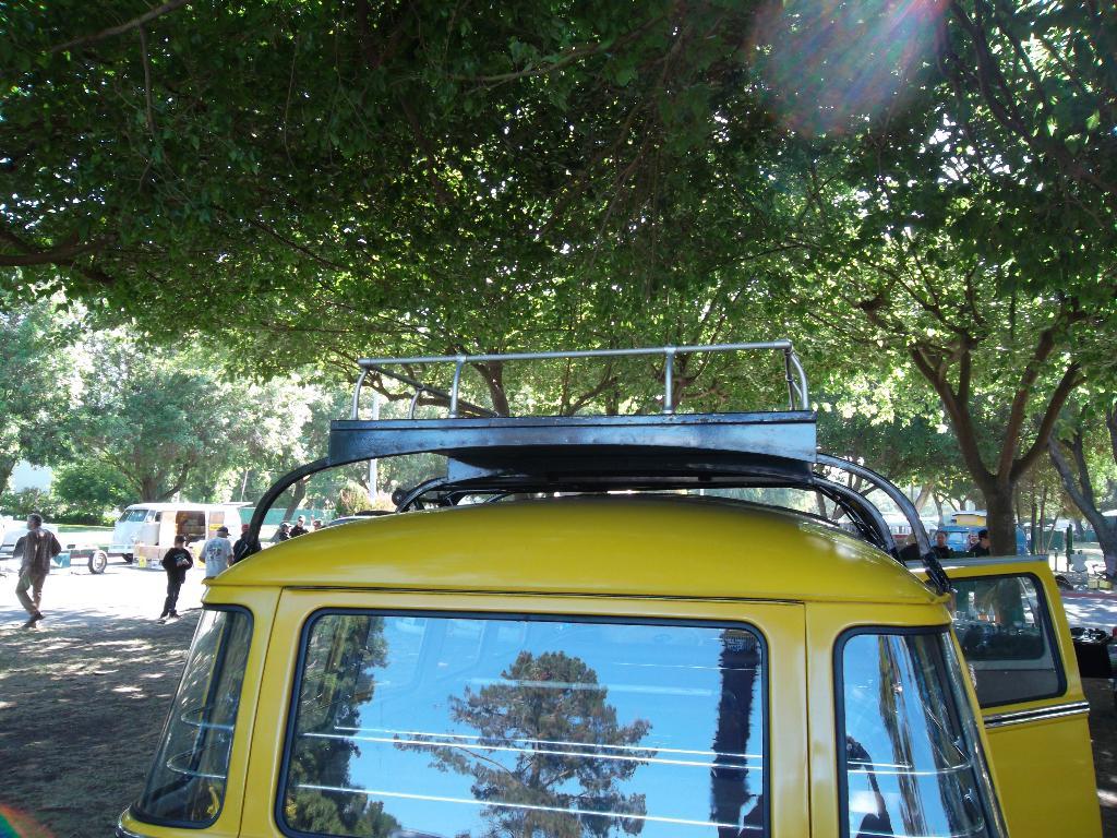 Westy police rof rack with sliding ladder