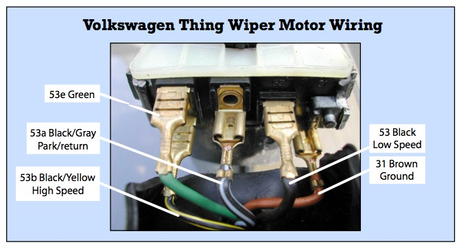 thesamba com thing type 181 view topic thing wiper motor wiring rh thesamba com VW Engine Wiring Diagram 74 VW Wiring a Motor