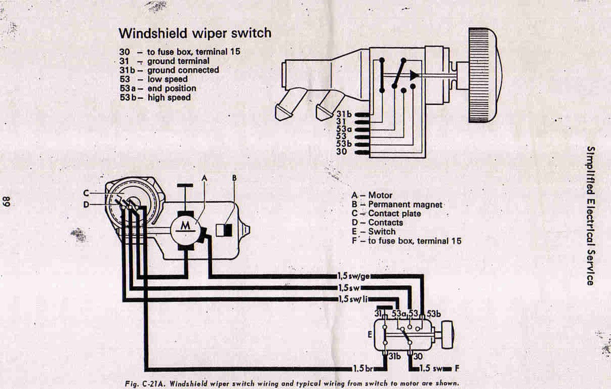 1974 Vw Super Beetle Wiper Motor Wiring Diagram Free Engine Voltage Regulator Images Gallery