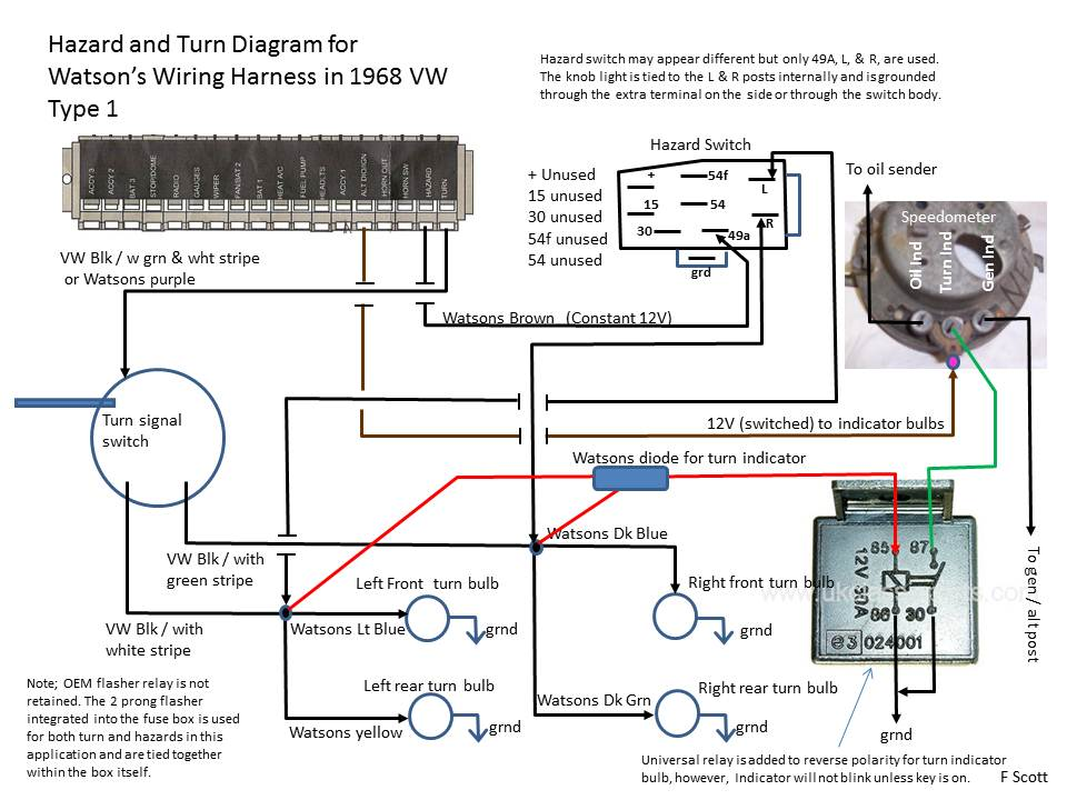 vw bug dimmer switch schematic