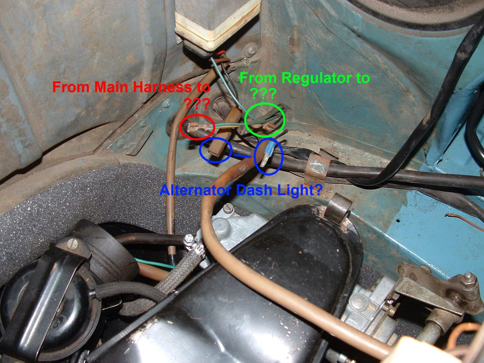 885801 thesamba com bay window bus view topic 1973 bus engine bay 1972 vw beetle voltage regulator wiring diagram at bakdesigns.co
