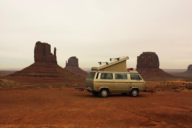 Westy at Monument Valley Mittens